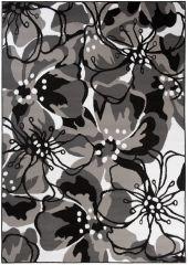 MAYA Vloerkleed Tapijt Grijs Wit Zwart Abstract Bloemen Modern