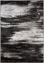 Maya Teppich Kurzflor Modern Meliert Design Schwarz Grau Creme