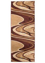 Dream Teppich Läufer Kurzflor Modern Braun Wellen Design