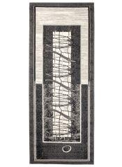 Dream Läufer Teppich Kurzflor Modern Grau Creme Streifen