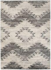 ETHNO Area Rug Boho Aztec Tribal Durable Carpet Cream