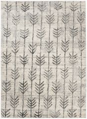 ETHNO Area Rug Short Pile Ethnic Arrows Berber Flecked Cream