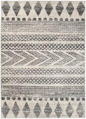 ETHNO Boho Area Rug Aztec Tribal Ethnic Durable Mat Cream