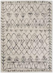 ETHNO Area Rug Short Pile Ethnic Flecked Durable Carpet Cream