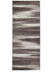 Sari Teppich Läufer Kurzflor Modern Meliert Braun Beige Design