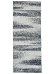 Sari Teppich Läufer Kurzflor Modern Meliert Design Grau