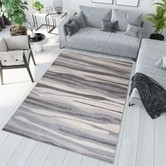 SARI Vloerkleed Grijs Korte Pool Modern Abstract Woonsfeer Design