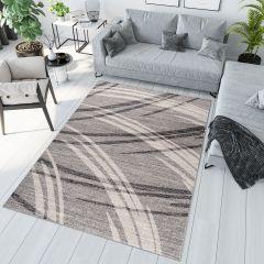SARI Modern Area Rug Contemporary Curve Wavy Abstract Grey
