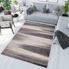 SARI Area Rug Modern Contemporary Short Pile Abstract Grey