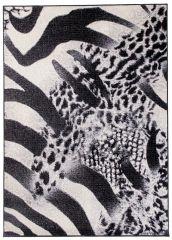 SCARLET Modern Area Rug Leopard Tiger Wild Safari Black White
