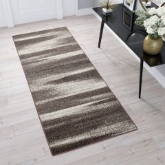 SARI Runner Carpet Modern Hallway Blurred Abstract Brown