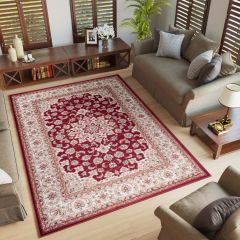 COLORADO Area Rug Classic Traditional Decorative Ornament Red