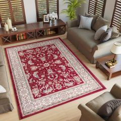 COLORADO Area Rug Traditional Classic Frame Universal Red