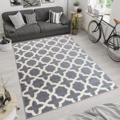 Maroko Tappeto Grigio Ecrù Geometrico Mosaico Marocchino