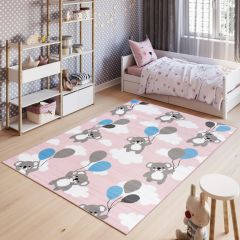 PINKY Area Rug Children Room Bedroom Play Mat Koala Pink