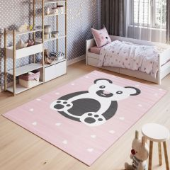 PINKY Area Rug Children Room Bedroom Bear Play Mat Pink
