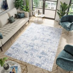 Sky Modern Abstract Faded Lines Multicolour Grey Blue