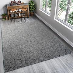 NATURE Teppich Flachgewebe Modern Sisal Karo Grau Blau
