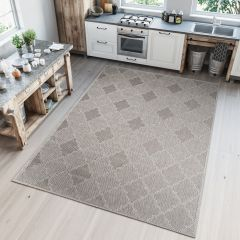 NATURE Indoor Outdoor Trellis Sisal Area Rug Dining Grey