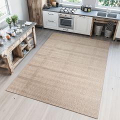 NATURE Teppich Outdoor Sisal Geometrisch Karo Beige Modern