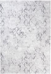 SKY Teppich Kurzflor Modern Karo Design Grau Meliert