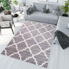 JAWA Teppich Kurzflor Modern Grau Creme Geometrisch Marokkanisch