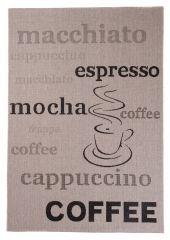 FLOORLUX Vloerkleed Tapijt Creme Zwart Coffee Cappuccino Design