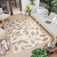 PATIO Outdoor Indoor Sisal Modern Terrace 3D Effect Beige Cream