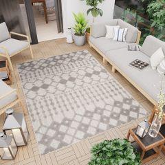 PATIO Outdoor Indoor Sisal Modern Terrace 3D Effect Grey Ethnic