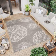 PATIO Outdoor Indoor Sisal Modern Ornamental Terrace 3D Effect Grey