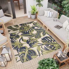 PATIO Outdoor Indoor Sisal Leaves Terrace 3D Effect Cream Green