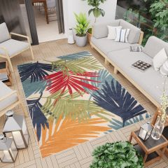 PATIO Outdoor Indoor Sisal Leaves 3D Effect Cream Multicolour