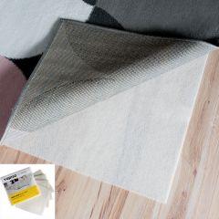 Sous-Tapis Anti-Glisse Blanc Fine Découpable Lavable 4 Pièces 50 x 50 cm