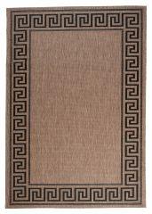 FLOORLUX Vloerkleed Tapijt Antraciet Zwart Bruin Frame Duurzaam Design
