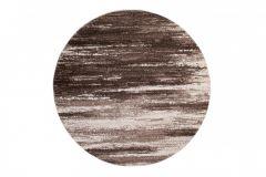 SARI Teppich Rund Beige Braun Verwischt Streifen Design