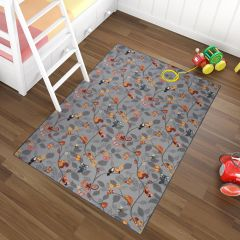 NINO Area Rug Children Room Bedroom Play Mat Happy Tree Grey