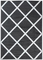 LUXURY Vloerkleed Tapijt Donkergrijs Geometrisch Interieur Sfeervol