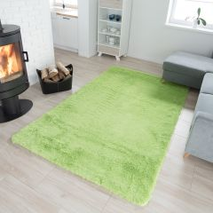 SILK Tapis Moderne Vert Antidérapant Super Moelleux Shaggy