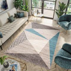 FIESTA Teppich Kurzflor Grau Dunkelgrau Blau Modern Design Meliert