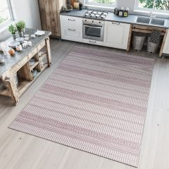 PRIME Indoor Outdoor Area Rug Sisal Kitchen Dining Stripes Beige