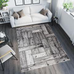 TANGO Vloerkleed Grijs Modern Design Duurzaam Interieur Woonsfeer