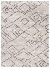 Versay Teppich Shaggy Meliert Creme Grau Ethno Inca Boho Stil