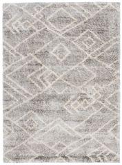 VERSAY Area Rug Shaggy Ethno Pattern Grey Durable Carpet
