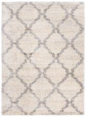 Versay Teppich Shaggy Creme Geometrisch Marokkanisch Gitter