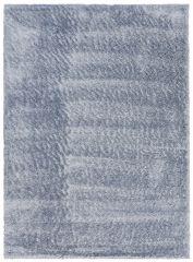Versay Teppich Shaggy Hochflor Blau Modern Wohnzimmer