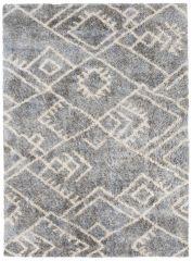 VERSAY Area Rug Shaggy Ethno Pattern Dark Grey Durable Carpet