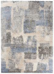 VERSAY Shaggy Area Rug Abstract Designer Grey Durable Carpet