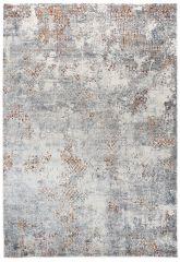FEYRUZ 3D Area Rug Vintage Contemporary Abstract White Grey