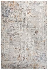FEYRUZ 3D Area Rug Modern Vintage Abstract Dotted White Grey