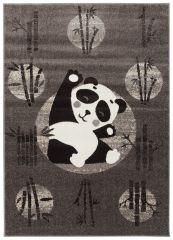 FIESTA Vloerkleed Tapijt Donkergrijs Zwart Wit Panda Kind Design